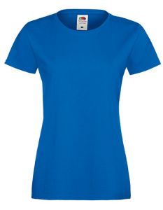 Lady fit valueweight T-royal blue-L