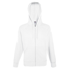 Lightweight Hooded Sweat Jacket-white-S