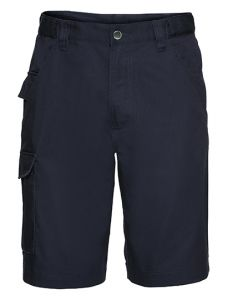Workwear shorts made from polyester/cotton twill-french navy-62